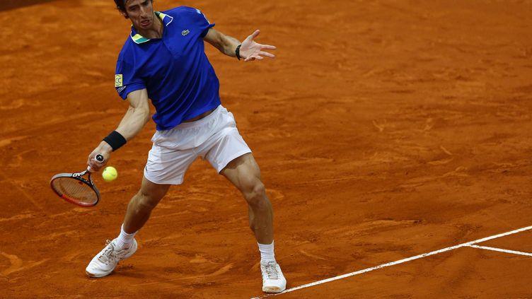 Pablo Cuevas continue sa route à Madrid. (KIKO HUESCA / EFE)