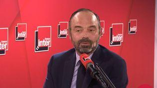 Édouard Philippe, Premier ministre, est l'invité exceptionnel de France Inter pour un Grand entretien élargi, jeudi 21 novembre 2019. (FRANCE INTER / RADIO FRANCE)