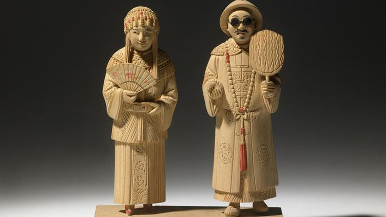 Figurine chinoise : Couple de mariés  (Philippe Acger)