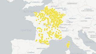Benoît Hamonn'a obtenu aucune voix dans 1 018 communes lors du premier tour de l'élection présidentielle, le 23 avril 2017 (FRANCEINFO)
