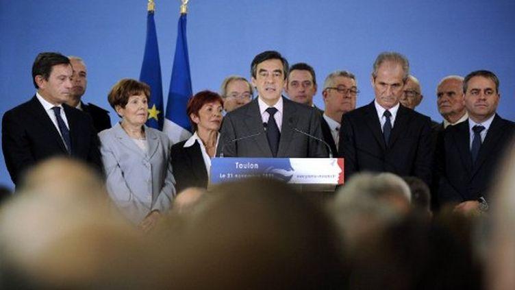 François Fillon, le 21 novembre (ANNE-CHRISTINE POUJOULAT / AFP)