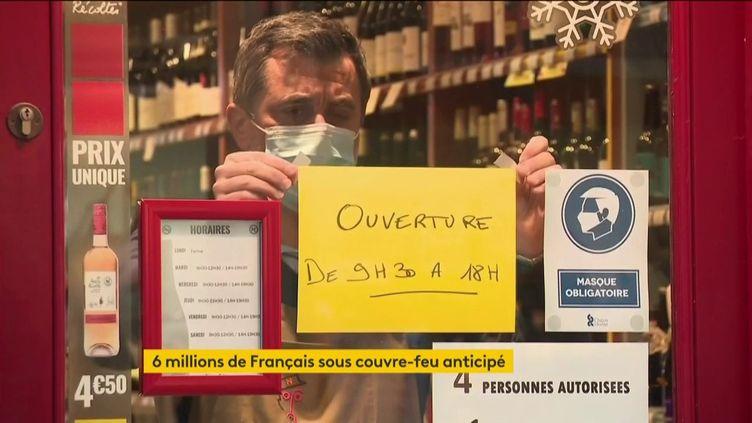 Des commerces obligés de fermer à 18 heures (FRANCEINFO)