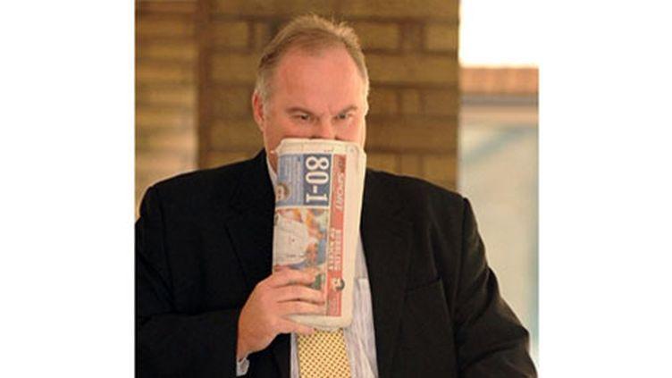 Anthony Lee, un chômeur anglais qui a tenté de vendre le Ritz (AFP / Carl de Souza)