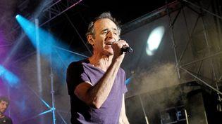 Jean-Jacques Goldman le 21 juillet 2014 à Ouveillan (Aude)pour un concert à l'occasion des Vendanges du Cœur. ( MAXPPP)