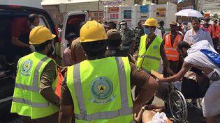 Une photo de la bousculade meurtrière à Mina, près de La Mecque (Arabie saoudite) diffusée par la défense civile saoudienne le 24 septembre 2015. (SAUDI CIVIL DEFENCE DIRECTORATE / AFP)