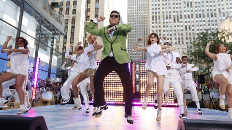 """Psy, l'auteur sud-coréen de """"Gangnam Style"""", la chanson qui cartonne sur YouTube, le 14 septembre 2012 à New York (Etats-Unis). (JASON DECROW / AP / SIPA )"""