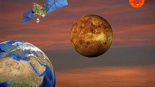 Image d'illustration digitale purement imaginaire. Aller sur Mars oui, pourquoi pas ? Mais beaucoup d'expériences et d'aventures spatiales vont se dérouler avant. (PATRICK LEFEVRE / MAXPPP)
