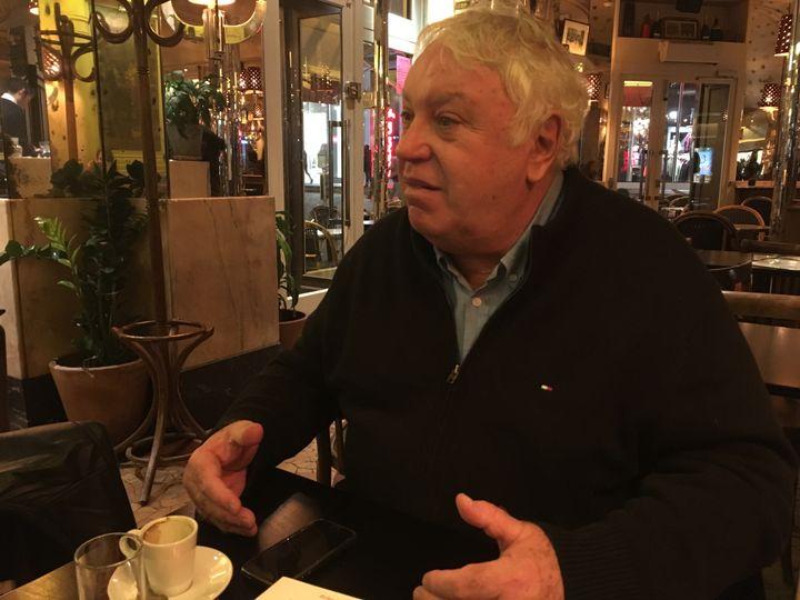 Gérard Filoche lors d'un entretien pour franceinfo à Paris, le 20 novembre 2017. (MARGAUX DUGUET / FRANCEINFO)