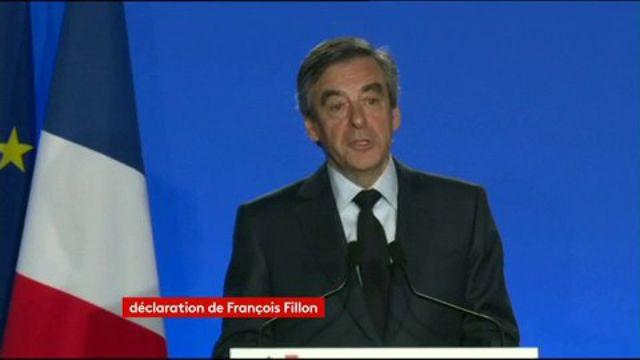 """""""Par ce déchaînement disproportionné (...)Ce n'est pas moi qu'on assassine, c'est l'élection présidentielle"""" déclare #Fillon"""