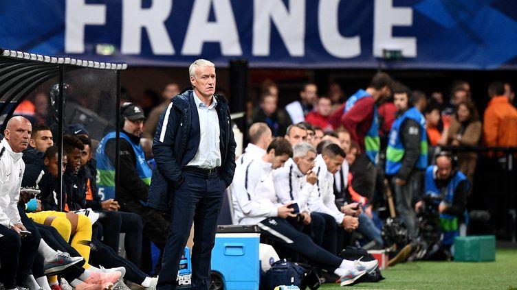 Didier Deschamps, le sélectionneur de l'équipe de France. (FRANCK FIFE / AFP)