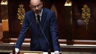 Le Premier ministre Édouard Philippe a tenu son discours de politique générale devant les députés à l'Assemblée nationale. (CHRISTOPHE ARCHAMBAULT / AFP)