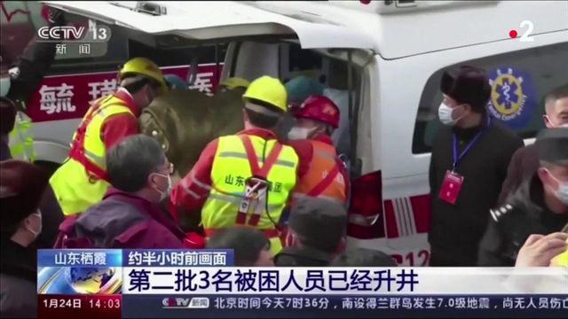 Chine : 11 mineurs extraits vivants d'une mine d'or ravagée par une explosion