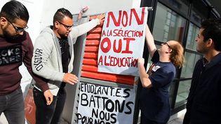 Des étudiants ont manifesté contre la réforme de l'entrée à l'université. (Photo d'illustration) (THIERRY BORDAS / MAXPPP)