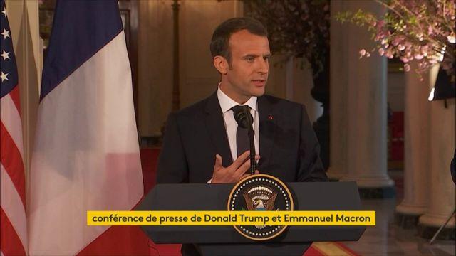 """Sur le nucléaire iranien : """"nous souhaitons travailler sur un nouvel accord"""", dit Macron"""