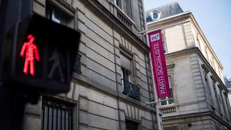 Le siège du Parti socialiste, le 20 septembre 2017, rue de Solférino, à Paris. (MARTIN BUREAU / AFP)
