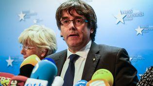 Carles Puigdemont, le 27 octobre 2017. (AURORE BELOT / AFP)