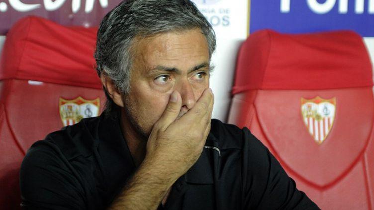Le 27 avril 2010, l'Inter de Mourinho affronte le Barça de Guardiola et Ibrahimovic, en demi-finale retour de Ligue des Champions. (CRISTINA QUICLER / AFP)