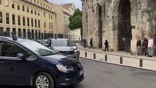 Double meurtre dans les Cévennes : Valentin Marcone conduit à la maison d'arrêt de Nîmes (France 2)