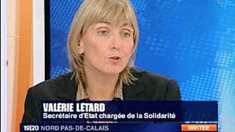 La secréaire d'Etat au développement durable, Valérie Létard. (© F3NPDCP)