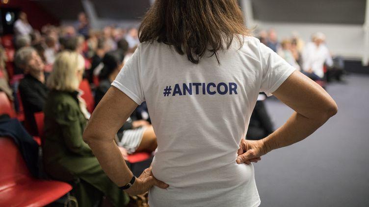 Une réunion lors de l'université d'été de l'association anticorruption Anticor, à Nantes, le 28 septembre 2019. (JÉRÉMIE LUSSEAU / HANS LUCAS)