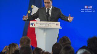 François Hollande, le 24 novembre 2015 à Washington (Etats-Unis). (JIM WATSON / AFP)