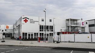 Un centre pour traiter les malades du Covid-19 à Berlin, le 14 août. (TOBIAS SCHWARZ / AFP)
