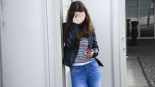 Photo d'illustration d'une adolescentevictime de cyberharcèlement. (AJ PHOTO / BSIP / AFP)
