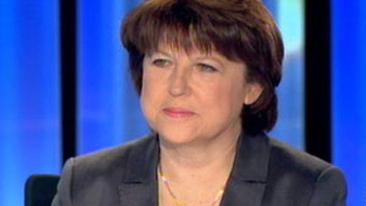 Martine Aubry au journal de 20h de France 2, le 8 mars 2010 (France 2)