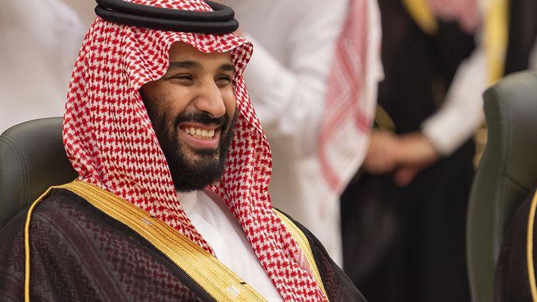 Le prince héritier Mohamed Ben Salmane, le 6 juin 2018 à Jeddah (Arabie saoudite). (BANDAR AL-JALOUD / SAUDI ROYAL PALACE / AFP)