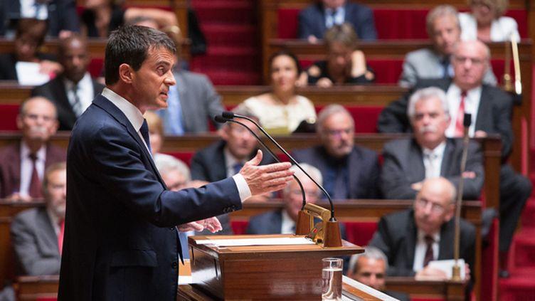 (Manuel Valls devant l'Assemblée nationale ce mardi après-midi. © Maxppp)
