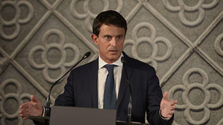 Manuel Valls, le 25 septembre 2018, à Barcelone (Espagne). (JOSEP LAGO / AFP)