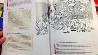 Page d'un manuel d'enseignement moral et civique pour classes de 2de, publié aux éditions Magnard en avril 2015. (FRANCETV INFO)