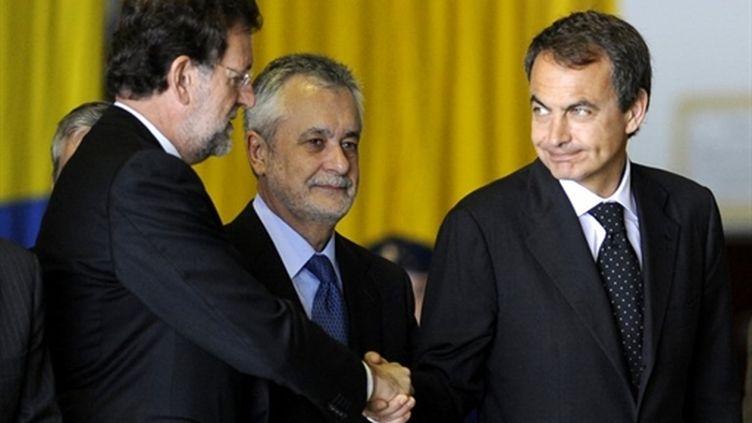 Mariano Rajoy à gauche et Jose Luis Zapatero à droite (AFP Cristina Quicler)