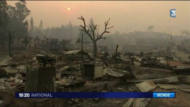 Chili : de violents incendies détruisent le centre du pays