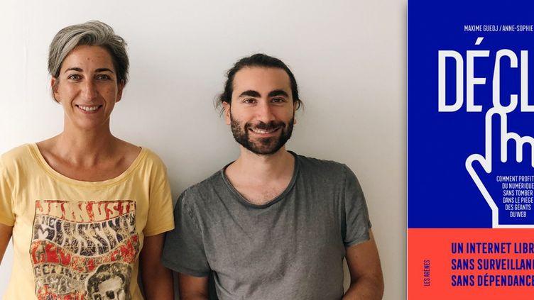 """Anne-Sophie Jacques et Maxime Guedj, auteurs de """"Déclic, comment profiter du numérique sans tomber dans le piège des géants du web"""" (Editions les Arènes) (DR - EDITIONS LES ARENES)"""
