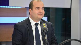 David Rachline, sénateur-maire FN de Fréjus (Var). (RADIO FRANCE / JEAN-CHRISTOPHE BOURDILLAT)