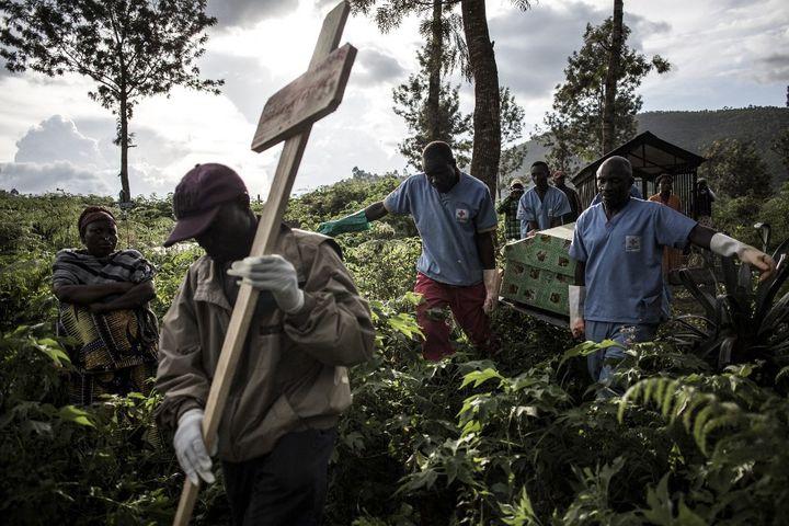 Butembo, en RDC, a enregistré plus d'un millier de morts lors de l'épidémie d'Ebola en mai 2019. (JOHN WESSELS / AFP)