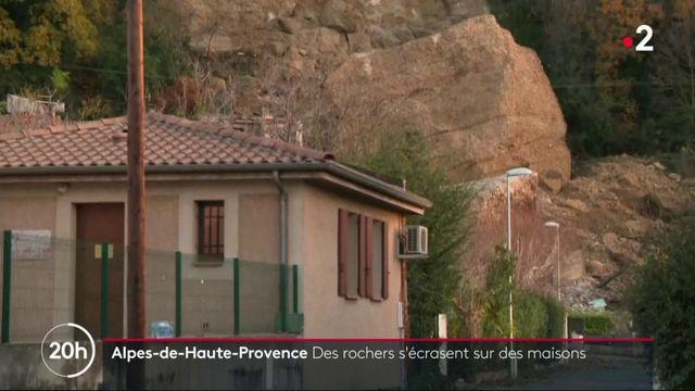 VIDEO. Pénitents des Mées : un rocher s'écroule sur des maisons
