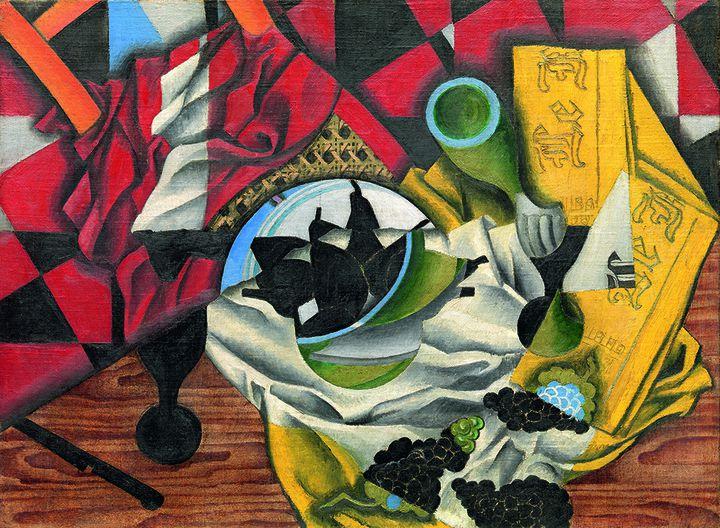 """Juan Gris, """"Poires et raisins sur une table"""", automne 2013, The Leonard A. Lauder Cubist Collection  (The Metropolitan Museum of Art, New York)"""
