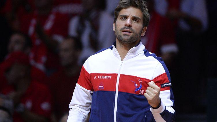 Arnaud Clément, ancien capitaine de l'équipe de France de Coupe Davis ici le 23 novembre 2014 en finale contre la Suisse. (JULIEN CROSNIER / DPPI MEDIA)