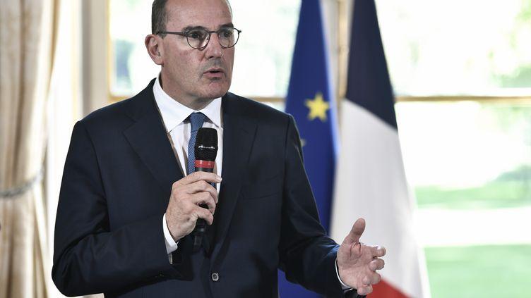 Le Premier ministreJean Castex, le 30 juillet 2020, à l'hôtelMatignon, à Paris. (STEPHANE DE SAKUTIN / AFP)