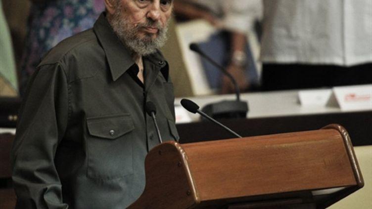 Fidel Castro au parlement cubain pour la première fois depuis quatre ans, samedi 7 août 2010. (AFP)