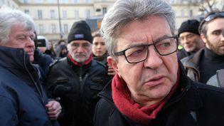 Jean-Luc Mélenchon, le 10 décembre 2019 à Paris (NATHANAEL CHARBONNIER / FRANCE-INFO)