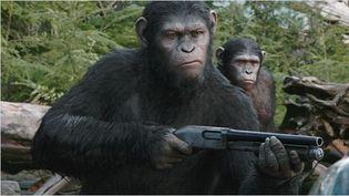 """Andy Serkis dans la peau du chimpanzé César """"La Planète des singes : l'affrontement"""" de Matt Reeves  (Twentieth Century Fox 2014 )"""
