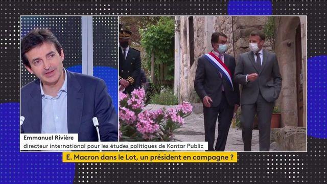 """""""Tour de France"""" d'Emmanuel Macron : l'opposition accuse le président de faire campagne"""