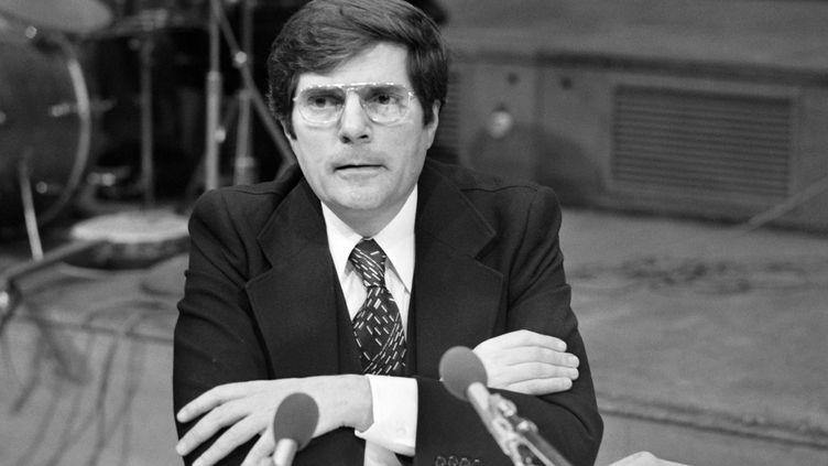 Le réalisateur Jean-Christophe Averty, le 8 janvier 1977 à Paris. (AFP)