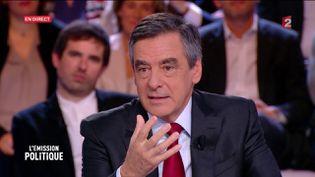 """François Fillon dans """"L'Emission politique"""", sur France 2, le 27 octobre 2016. (FRANCE 2)"""