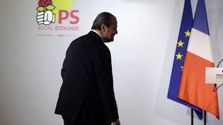 Le premier secrétaire du PS, Jean-Christophe Cambadélis, le 22 janvier 2017 à Paris. (GEOFFROY VAN DER HASSELT / AFP)