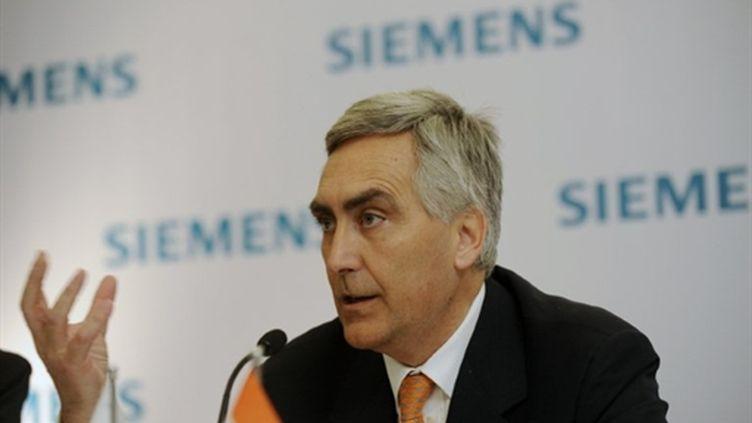 Peter Loescher, PDG de Siemens (AFP/MANPREET ROMANA)
