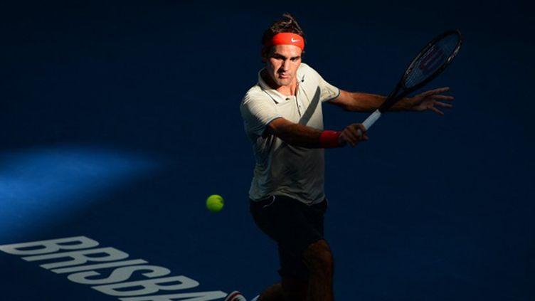 Roger Federer en finale à Brisbane (WILLIAM WEST / AFP)